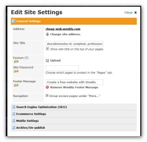 weebly settings snapshot
